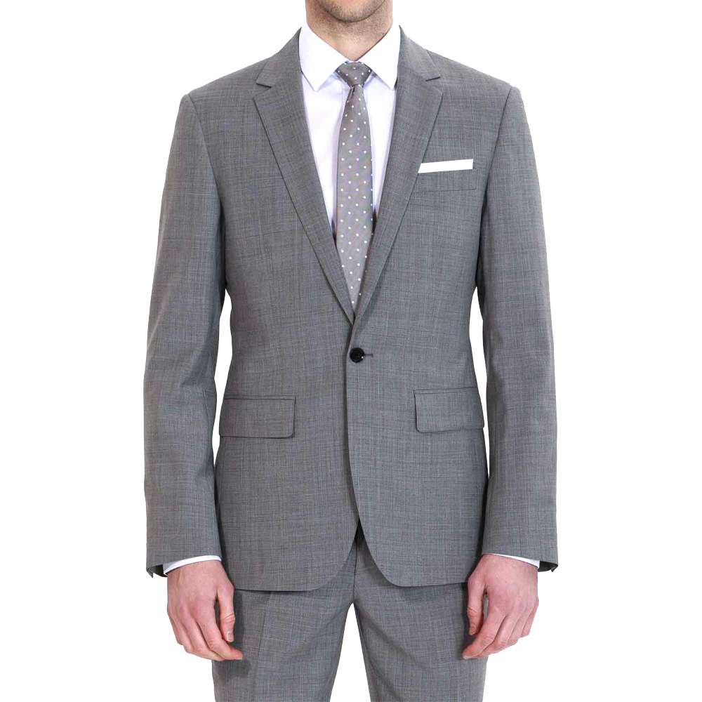 Men's 2 Piece 1 Button Flat Collar Slim Fit Business Gray Suits For Wedding Event Custom Made With New Designed Tuxedo Men Suits