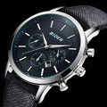 Luxury Brand Relogio Masculino Date Leather Casual Watch Men Dress Sports Watches Men Quartz Military Wrist Watch Male Clock2016