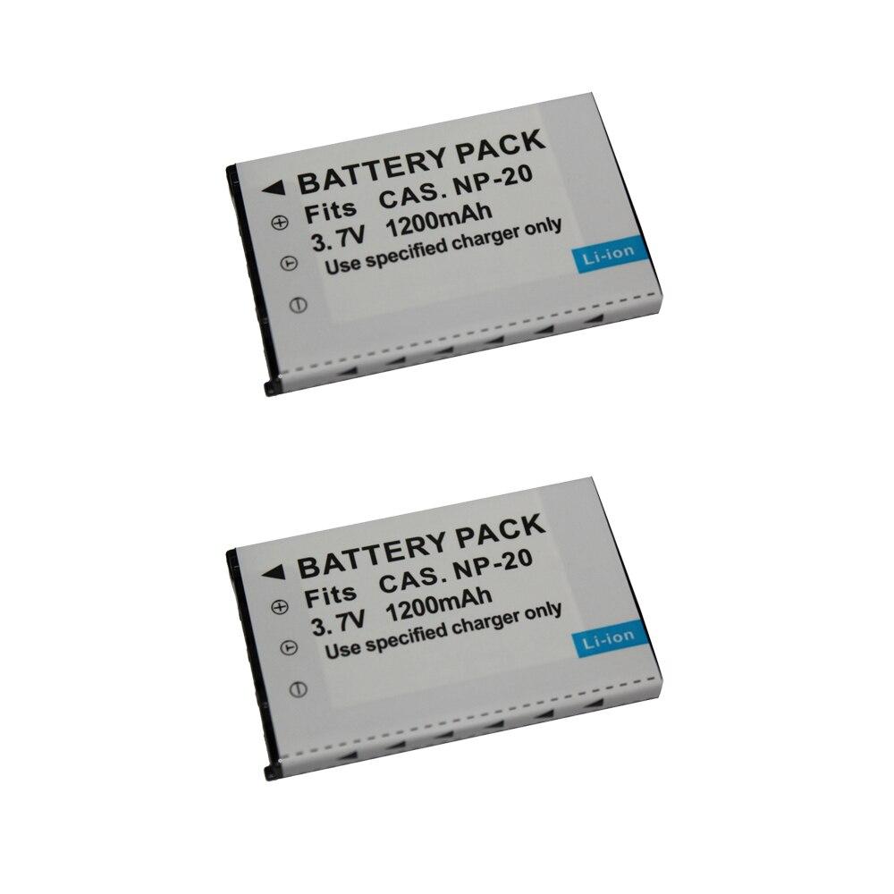 2 Pcs/lot CNP20 NP-20 NP20 Batterie pour CASIO Exilim EX M20 S100 S20 S500 S600 S770 S800 S880 Z60 Z65 Z70 Z75 Z77 Z3 Z5 Z6 Z4 Z7 Z