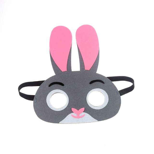Mask Super Hero Wolf Rabbit Animals Face Giraffe Tiger Mask Kids Children Birthday Costume DIY Masquerade Eye Mask Cosplay Xmas 3