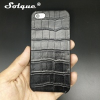 Solque Real Genuine Leather Case For IPhone 5 5S SE 5SE Cell Phone Luxury Slim Hard