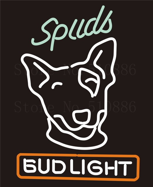 Custom Signage NEON SIGNS For Bud Light Spuds GLASS Tube BAR PUB Signboard  Display Decorate Store