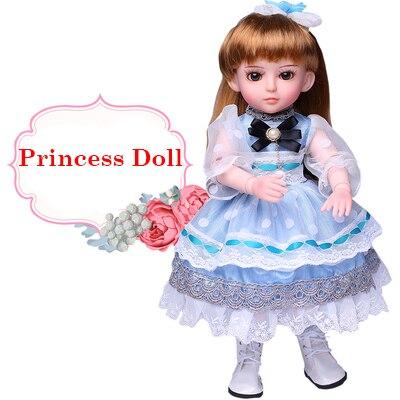 45 CM fille poupée jouets interactif parler poupée jouets reborn poupées brinquedo menina vinyle corps baigner parler et chanter princesse - 4