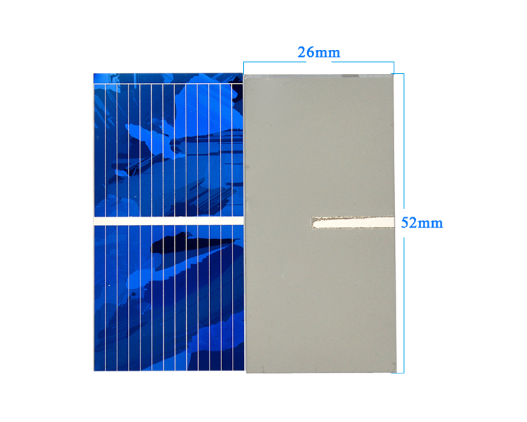 Aoshike 0.5V 0.45A Solar Panel Polycrystalline Silicon Solar Cells Solar Module DIY Solar Sunpower Charger Power 52*26mm 100pcs 7