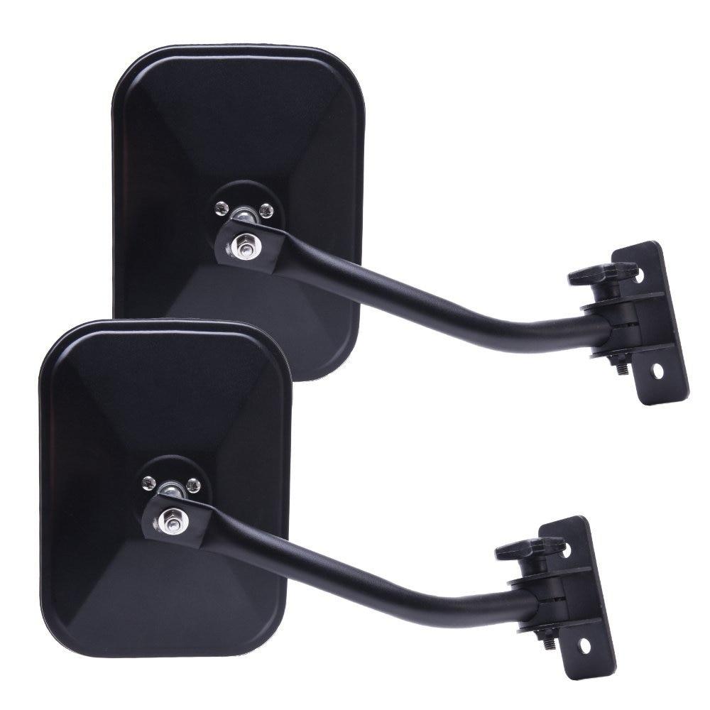 4x4 Safari Mirrors For Jeep Wrangler Pair Rectangular Mirrors fit for 1997 2017 Jeep Wrangler CJ