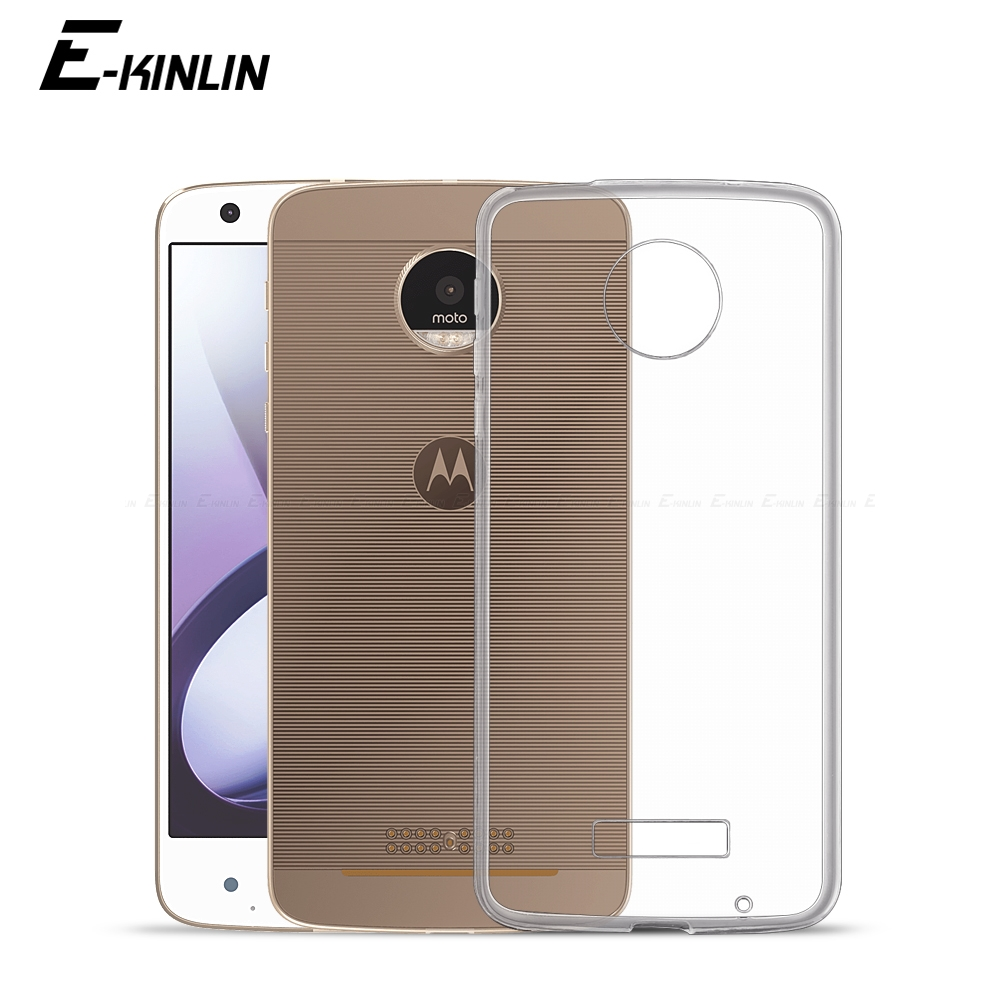 Transparent Ultra Slim Clear Silicone Case For Motorola Moto X 2017 X4 Z3 Z Z2 Force Play Style M Back Soft TPU Protection Cover ...