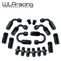 WLR-6 AN-6 прямой/90/180 градусов Алюминиевый Поворотный концевой фитинг шланга адаптер масляной топливной линии + заглушка NPT WLR-SL10NPT-BK