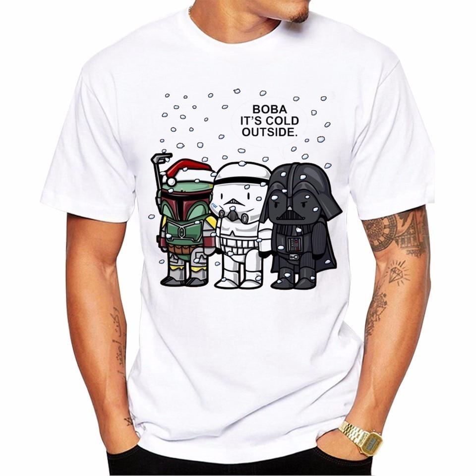 2017 Mens New Funny Star Wars Cartoon Characters Printed T-shirt Summer Cool Design Tops Soft Short Sleeve Tee