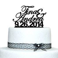 Personalized Cake Topper Custom Name And Date Wedding Cake Topper Acrylic Cake Topper Proposal Wedding Decoration