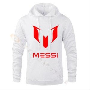 Image 3 - Lionel Messi Calcio Con Cappuccio Unisex Adulto Argentina Barcelona Hoody Gioventù