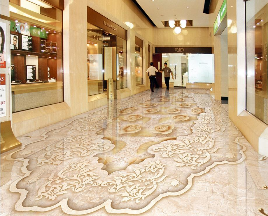 Custom 3D pvc flooring self-adhesive jade marble Floor Wallpaper 3d floor living room sticker wall papers home decor free shipping custom 3d white marble floor stickers self adhesive home decoration living room bathroom flooring wallpaper mural