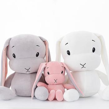 Szczęśliwego chłopca Niedziela 65 50 25cm cute królik pluszowe zabawki miękkie królik lalka noworodek zabawki zabawka zwierzę tanie i dobre opinie Stuffed Plush Animals Bawełna PP Plush Nano Doll SMT-0812 TV Movie Character Unisex 3 lat keep fire away Rabbit Genius