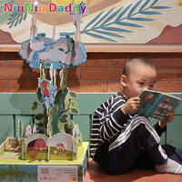 Niuniu Daddy Genuine Large 3D Puzzles Enlightenment English Story Picture Book To Develop Baby Hand Two Styles For Children Gift