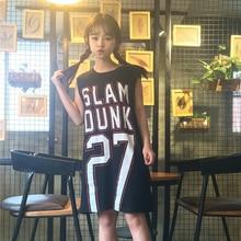 2017 new sleeveless vest female summer large code loose letter printing long T shirt