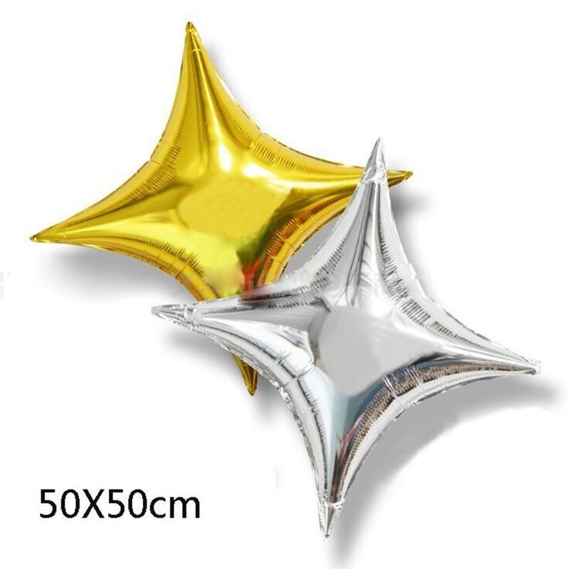 Explosion models Wedding decoration Launch Helium balloons 50cm *50cm Birthday Party Aluminum Balloon Large quadrangular #03