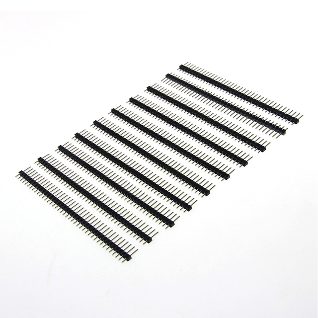 10pcs 40 Pins 1×40 Single Row Male 2.54 Breakable Pin Header Connector Strip
