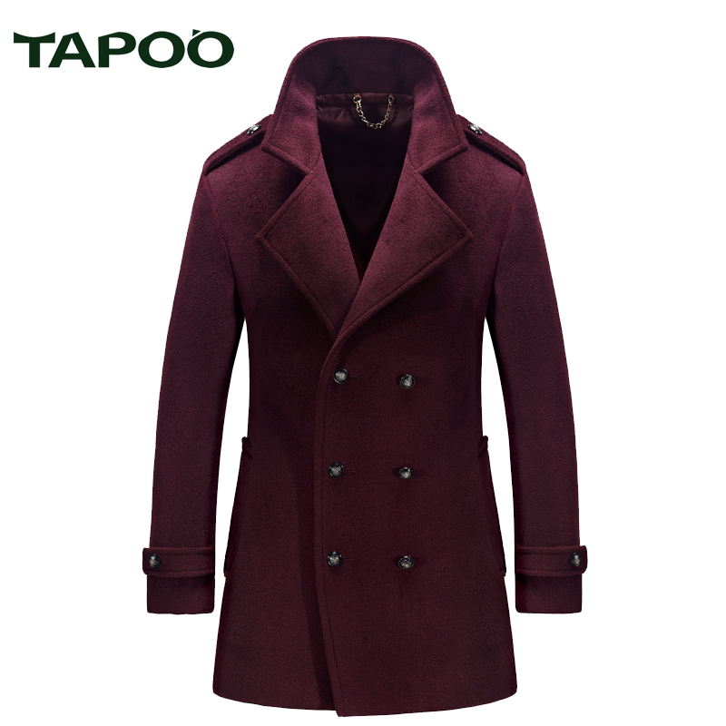 TAPOO brand clothing 2017 autumn and winter men's woolen clothing collar collar men's coat windbreaker wool woolen clothing 829