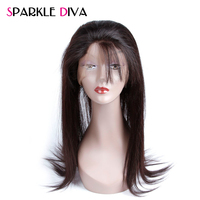 Sparkle Diva 360 Pre Plucked Lace Frontal Closure Peruvian Straight 22 4 2 Band Frontal Natural