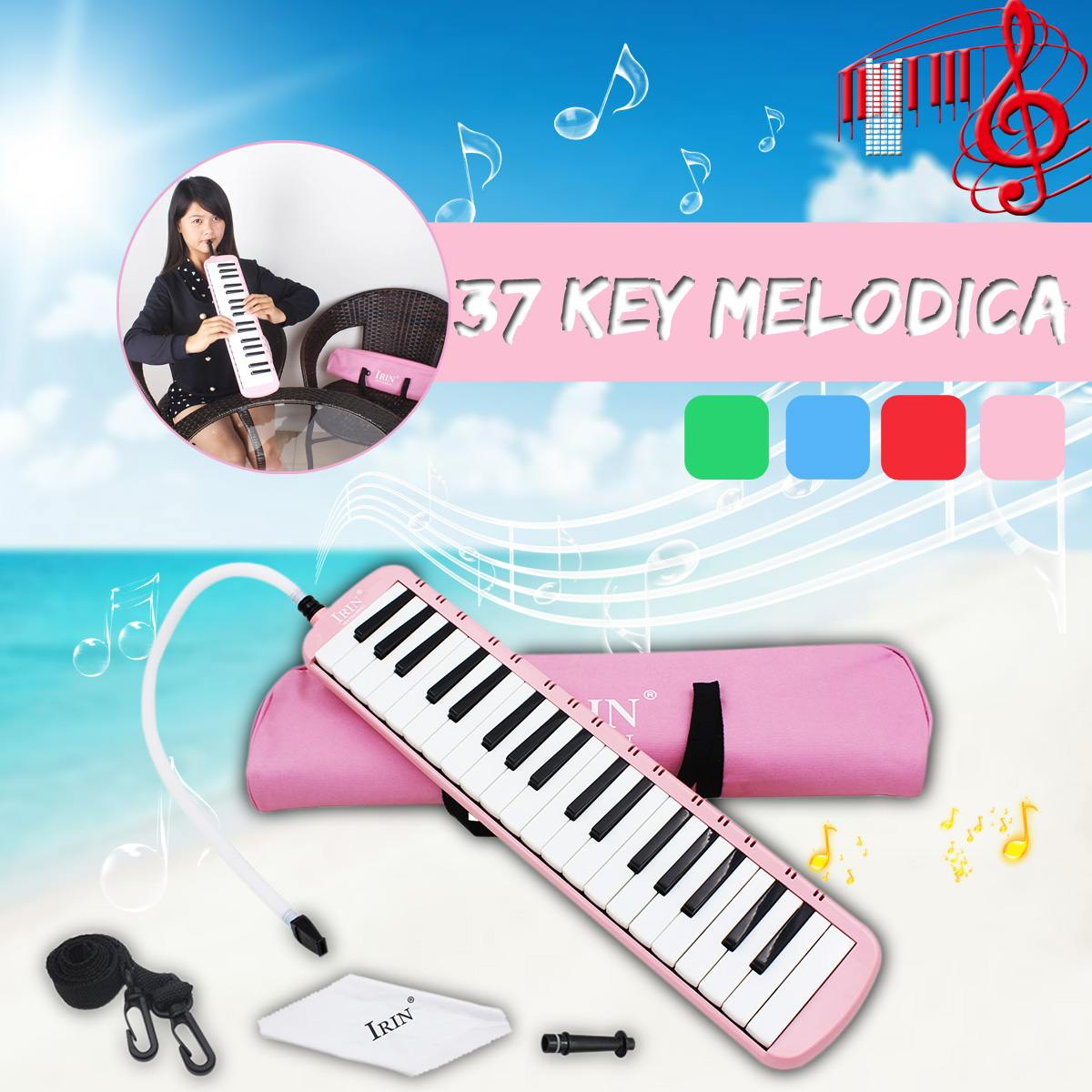 37 Keys Electronic Melodica Harmonica Keyboard With Handbag Durable Musical Instruments Performance Beginner Practice