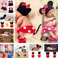 Mickey Designs Baby Crochet Photography Props Infant Costume Photo Props Fotografia Outfits Newborn Crochet Beanies 1 set