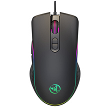 DASENLON STORE HXSJ Wired Gaming Mouse, Office Computer RGB Backlit Mouse with 4-level adjustable Max 6400 DPI