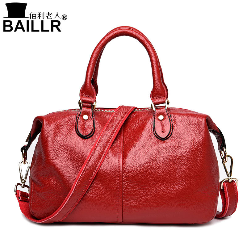 2017 New Genuine Leather Women Messenger Bags Famous Design Boston Brand Woman Shoulder Bag Luxury Female Handbags Sac a Main new genuine leather bags for women famous brand boston messenger bags handbags tassel tote hand bag woman shoulder big bag bolso