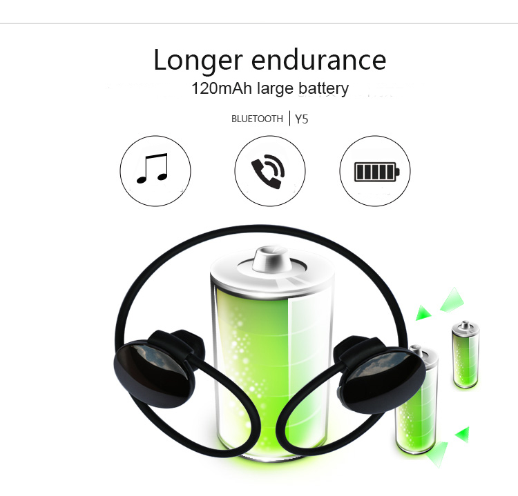 DRRBYY Y5 Eat-Hook Sports Headset Bluetooth 4.1 Bass Stereo Magnetic Wireless Earphone For iPhone Samsung Sony Xiaomi Smartphone