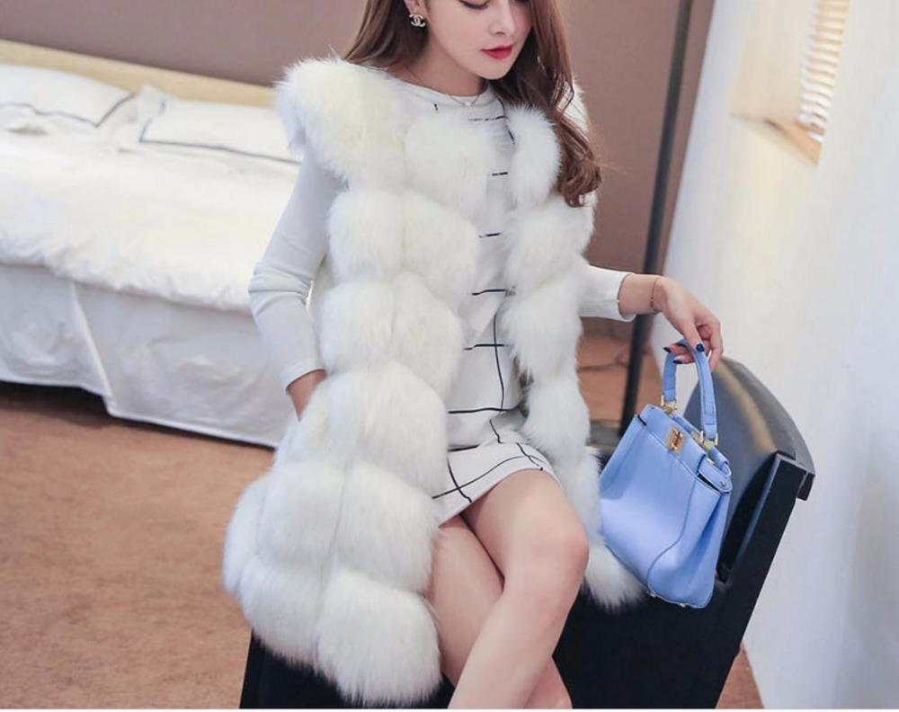 Women   basic     jacket   Import Coat Fur coat Winter Warm New Arrival Fashion High-Grade Faux Fur Coat Long top Plus Size   jacket