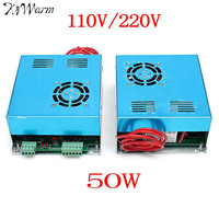 KiWarm High Quality 110V/220V 50W Laser Power Supply For CO2 Laser Engraving Cutting Engraver Machine Supplies
