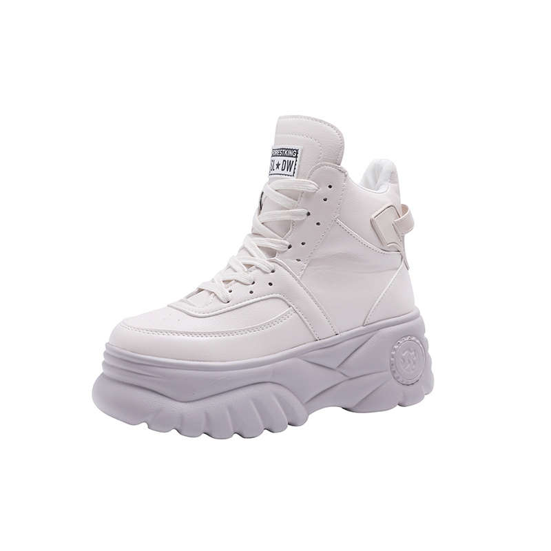 Swonco Chunky High Heel Shoes Sneakers Women 2019 Spring -5460