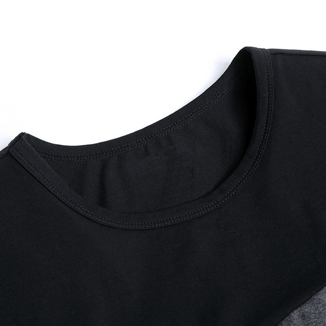 5XL 2019 Spring Summer 100% Cotton Round Collar T Shirt Men Short Sleeve T-Shirt Contrast Color Fitness Slim Fit Casual Tshirts