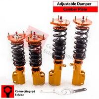 Strut Choque Coilover Kit para Toyota Corolla 88-99 E90 E100 E110 AE92-AE111 Adj. Absorvedor de Choques Coilovers Suspensão Amortecedor