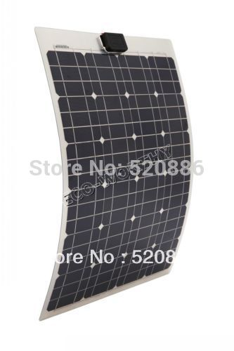40w 18v Semi-flexible Mono Solar Panel Kit for Yacht Boat RV Camping,adventure 12v Battery Charger Solar Generators 50w 12v semi flexible monocrystalline silicon solar panel solar battery power generater for battery rv car boat aircraft tourism