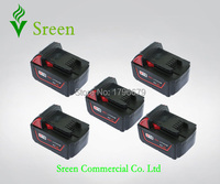5pcs Spare 4000mAh 18V Lithium Ion Rechargeable Power Tool Battery Replacement For Milwaukee M18 XC 48