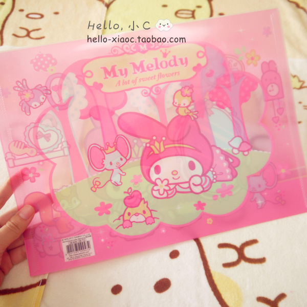 33cm Cute Kawaii Figures Little Twin Stars My Melody Hello KT Waterproof File Bag Figures Office Supplies For Gifts