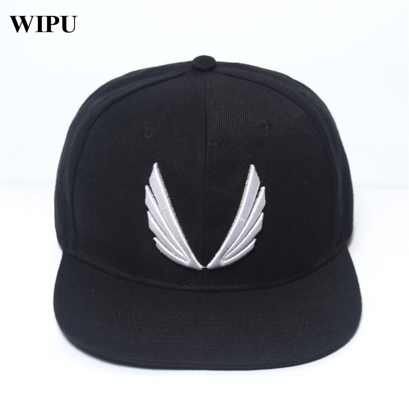 WIPU 2017 New Fashion Red Black Hat Baseball Cap HipHop Cap Cool Snapback Gym Sport Cap High quality Men Women Adjustable 2017 bigbang 10th anniversary in japan made tour tae yang g dragon ins peaceminusone bone red baseball cap hiphop pet snapback