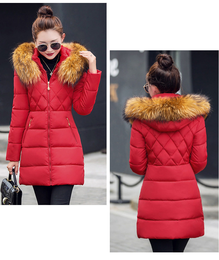 2017 Fall Winter Women's Fashion Han Edition Cultivate One's Morality Heavy Hair Brought Down Cotton-padded Jacket Overcoat south korea han edition tire hair accessories fashion version of wrong layer tassel wide set auger flannelette hair band