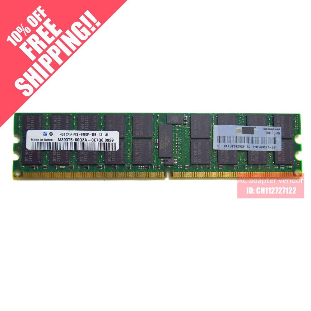 Top FOR HP 4GB PC2-6400P 800 ECC REG memory DDR2 server memory цены
