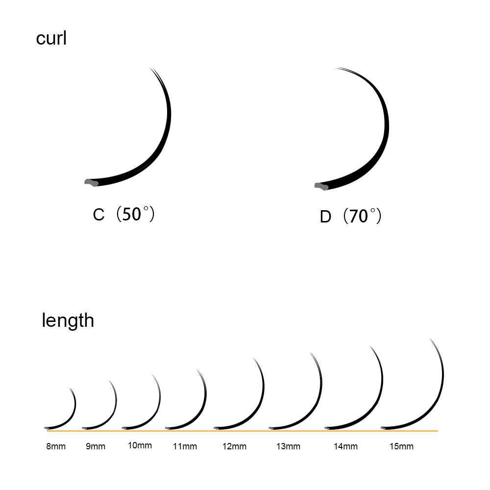 Image 5 - LAGEE 50 cases Flat Ellipse Eyelashes Extensions Matte Black Split Tips False eyelashes natural light NAGARAKU Line-in False Eyelashes from Beauty & Health