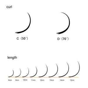 Image 5 - LAGEE 50 cases Flat Ellipse Eyelashes Extensions Matte Black Split Tips False eyelashes natural light NAGARAKU Line