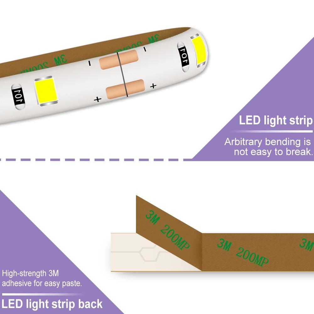 Wall Lamp LED Strip Dimmable Waterproof USB LED TV Backlight Lighting Flexible LED Ribbon Light 5V Wireless Cabinet Light Tape in LED Indoor Wall Lamps from Lights Lighting