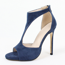 Women Ankle Strappy Sandals Open Toe High Heel Stiletto Dress Party Ladies Shoes big size 43.44.45.46 цены онлайн