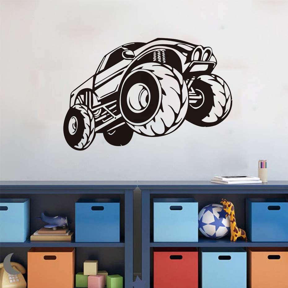 Bon Monster Truck Vinyl Wall Sticker For Kids Room Adesivo De Parede Auto  Wallpaper Living Room Bedroom Decals Home Decor Jd1811 In Wall Stickers  From Home ...