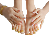 Fast shipping!Solid Silicone female Hands,Sex Doll Real Skin,realistic mannequin hands,ring display sex toys adult product