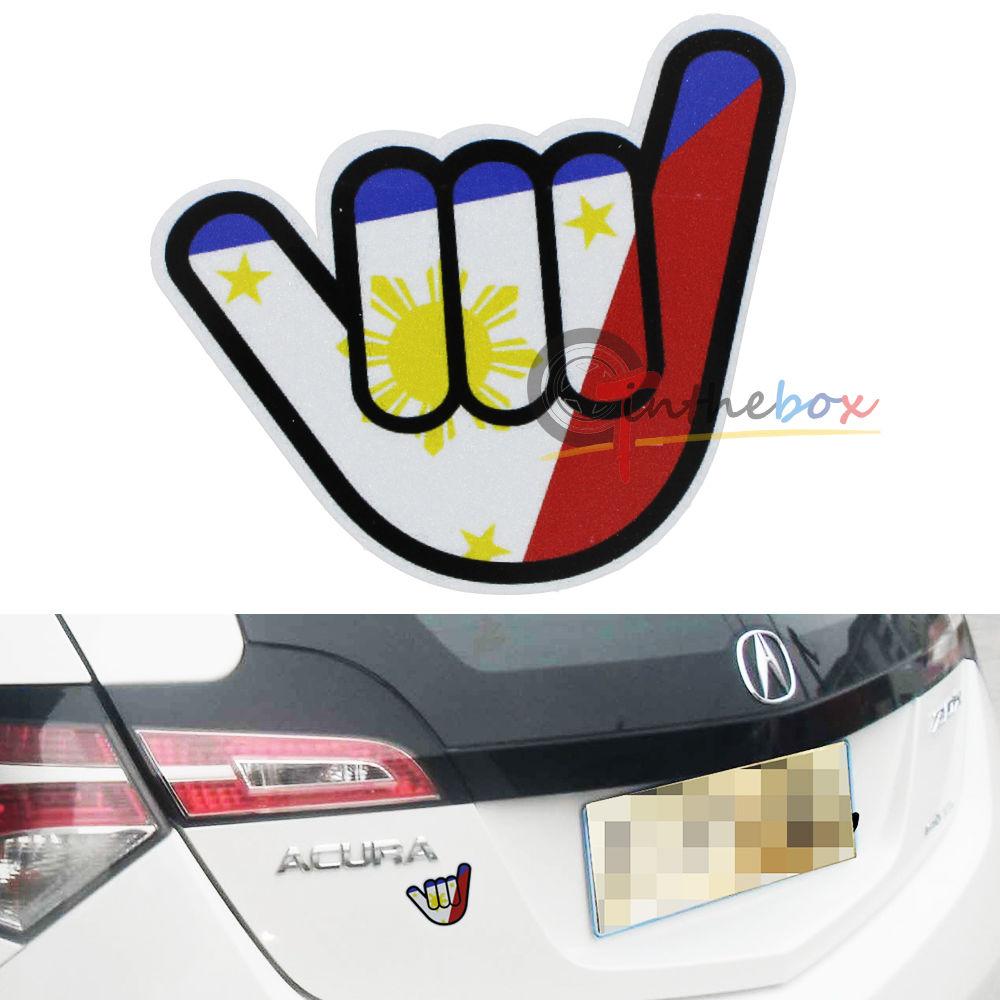 1 jdm japanese style w philippine flag sticker decal for cars suvs trucks