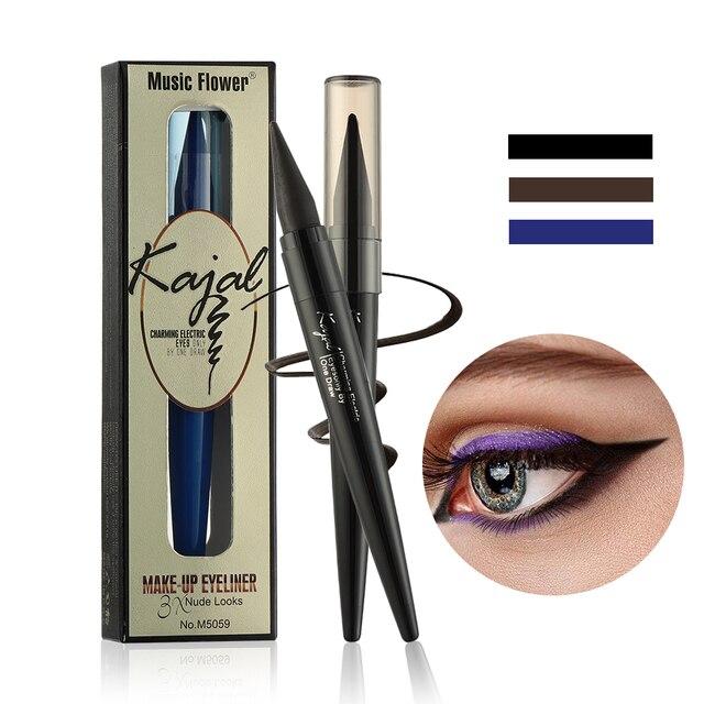 1pc Waterproof Eyeliner Black/Blue/Brown Matte Longlasting Eye Makeup Quick Drying Smudge-proof Eyeliner Pencil wholesale 2