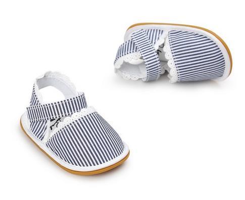 Heißer Verkauf neuer Streifen Bowtie netter Babymokassinkind Sommer - Babyschuhe - Foto 5