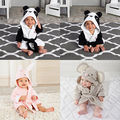 Baby Kids Toddler Girl Boy Animal Cartoon Pattern Bathrobe Towel Cotton Hat new