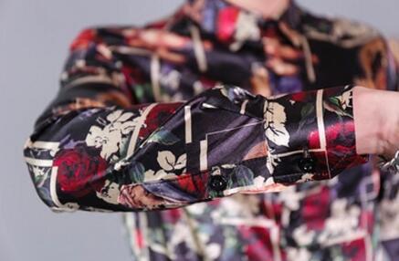 Black Chemises Shirts 3xl Printemps Est Costumes 2018 Bar Nouveau M Longues De Coiffeur Chanteur Lisse Shirts Chemise white Hommes Mâle Manches Impression À Vêtements Floral 1F8wAx