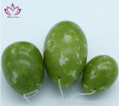 [ Fly Eagle ] wholesale price dark green natural jade stone kegel egg 3 pcs per set yoni eggs